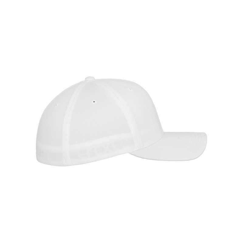Flexfit Cap Weiß Wollmischung 6 PANNEAUX - Fitted Seitenansicht rechts