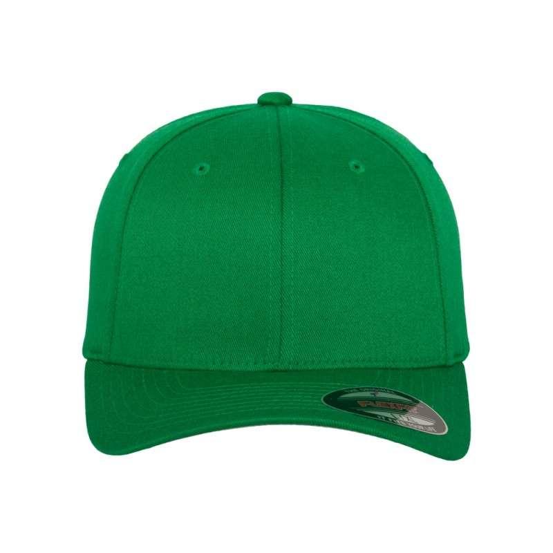 Flexfit Cap Wollmischung Pepper Green 6 PANNEAUX - Fitted Ansicht vorne