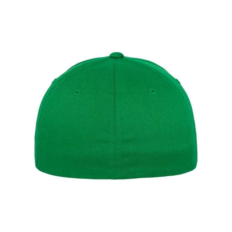 Flexfit Cap Wollmischung Pepper Green 6 PANNEAUX - Fitted Ansicht hinten