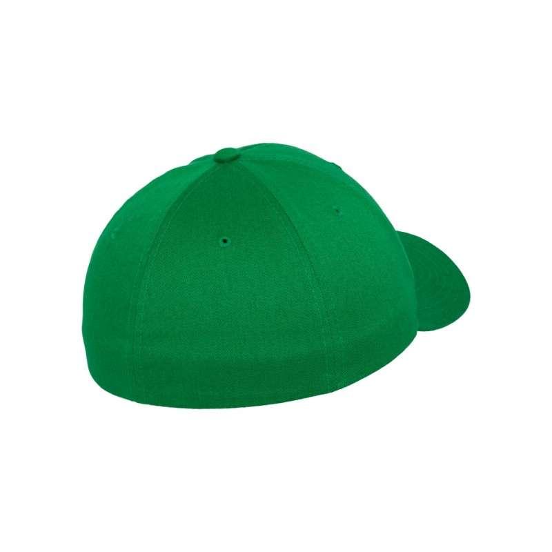 Flexfit Cap Wollmischung Pepper Green 6 PANNEAUX - Fitted Seitenansicht hinten