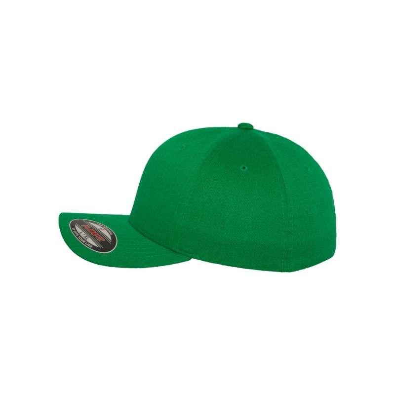 Flexfit Cap Wollmischung Pepper Green 6 PANNEAUX - Fitted Seitenansicht links