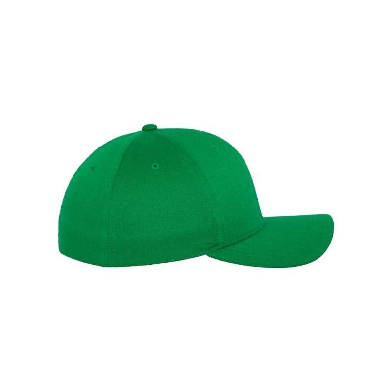 Flexfit Cap Wollmischung Pepper Green 6 PANNEAUX - Fitted Seitenansicht rechts