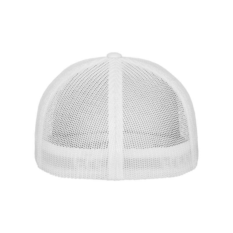 Flexfit Cap Weiß Tactel Atmungsaktiv - Fitted Ansicht hinten