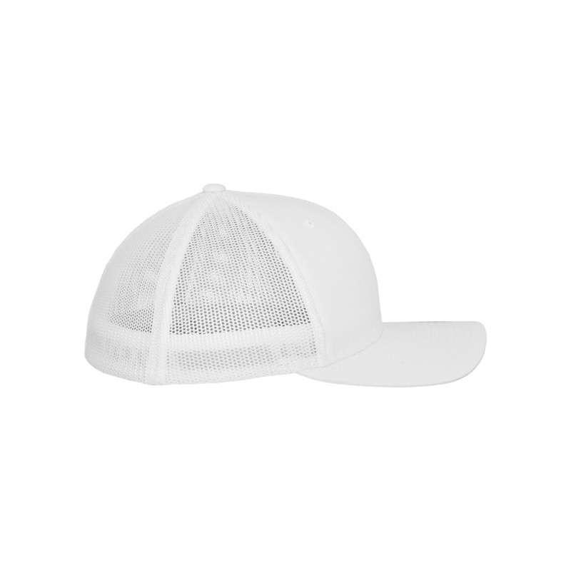 Flexfit Cap Weiß Tactel Atmungsaktiv - Fitted Seitenansicht rechts