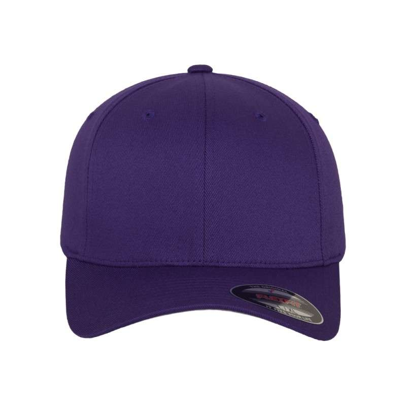 Flexfit Wooly Combed purple Ansicht vorne