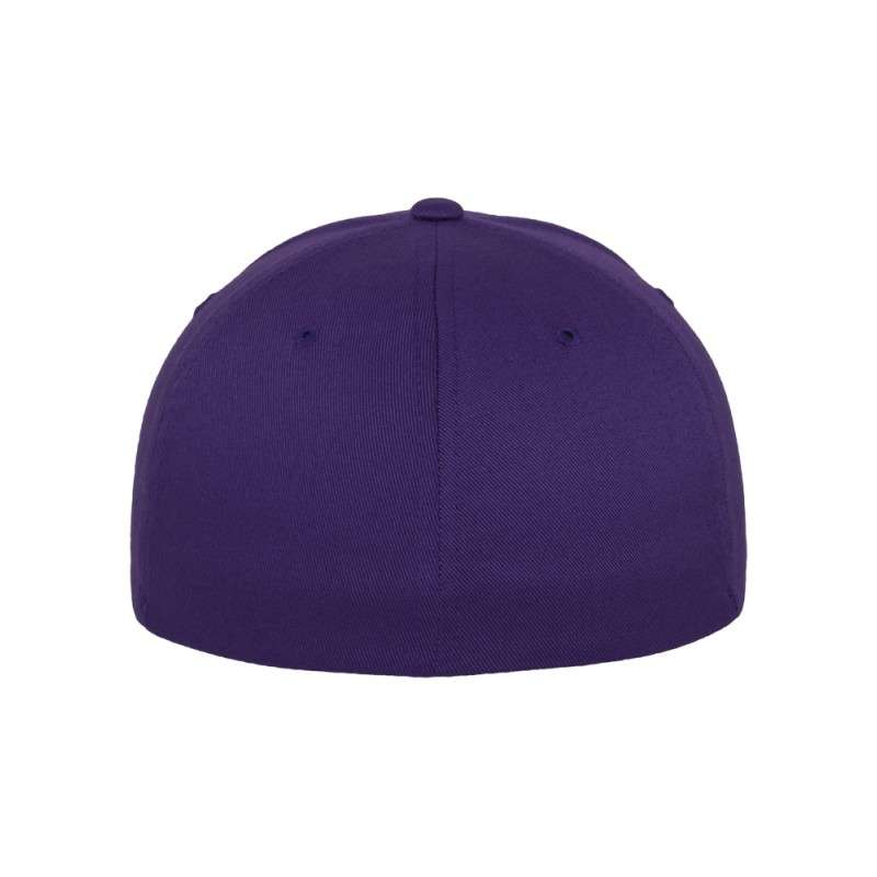 Flexfit Wooly Combed purple Ansicht hinten
