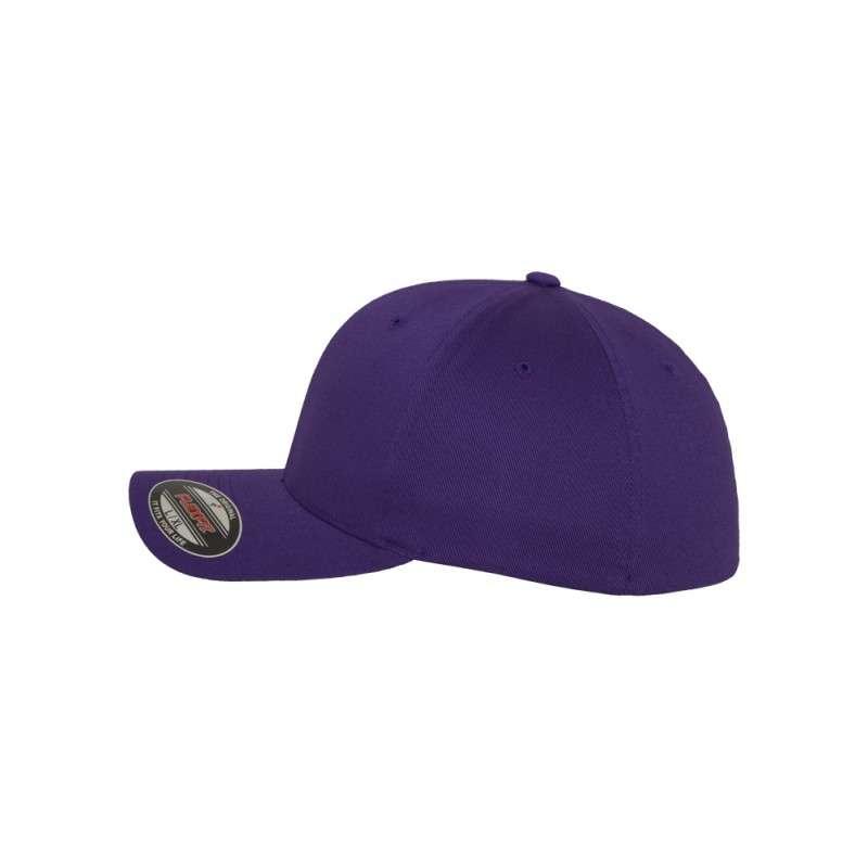 Flexfit Wooly Combed purple Seitenansicht links