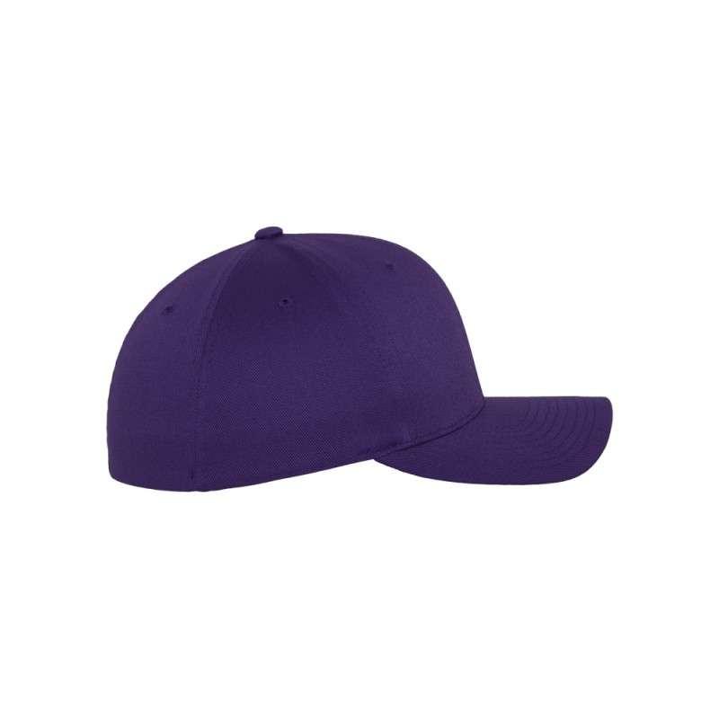 Flexfit Wooly Combed purple Seitenansicht rechts