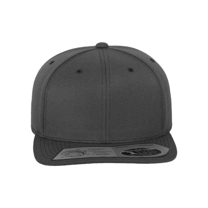 Premium Snapback Cap 110 Dunkelgrau 6 panneaux, ajustable Ansicht vorne