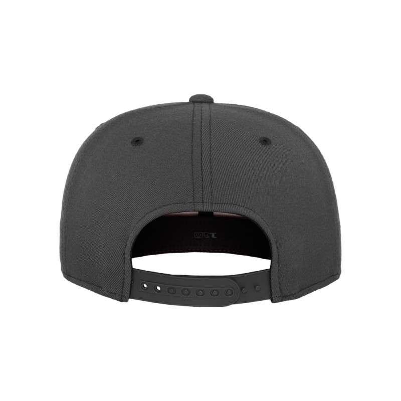 Premium Snapback Cap 110 Dunkelgrau 6 panneaux, ajustable Ansicht hinten