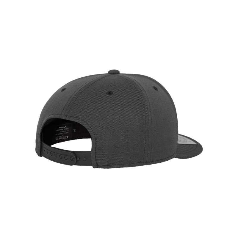 Premium Snapback Cap 110 Dunkelgrau 6 panneaux, ajustable Seitenansicht hinten