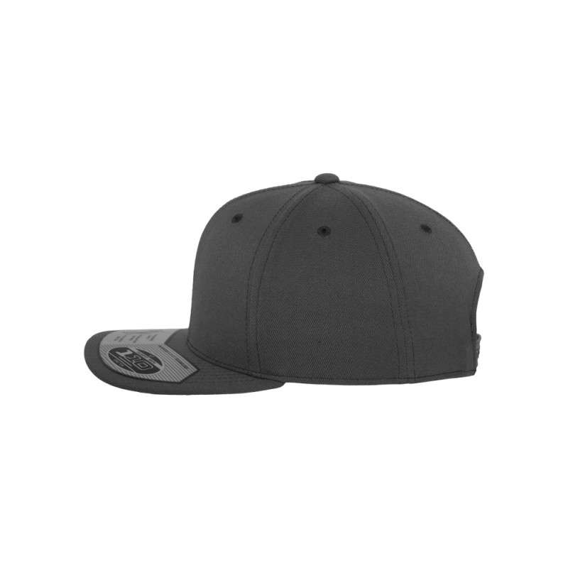 Premium Snapback Cap 110 Dunkelgrau 6 panneaux, ajustable Seitenansicht links