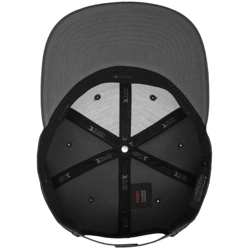 Premium Snapback Cap 110 Dunkelgrau 6 panneaux, ajustable Ansicht innen