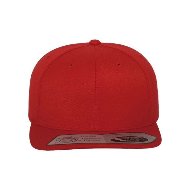 Premium Snapback Cap 110 Rot 6 panneaux, ajustable Ansicht vorne