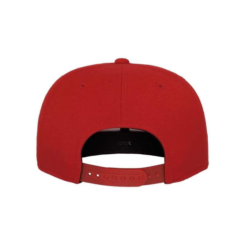 Premium Snapback Cap 110 Rot 6 panneaux, ajustable Ansicht hinten