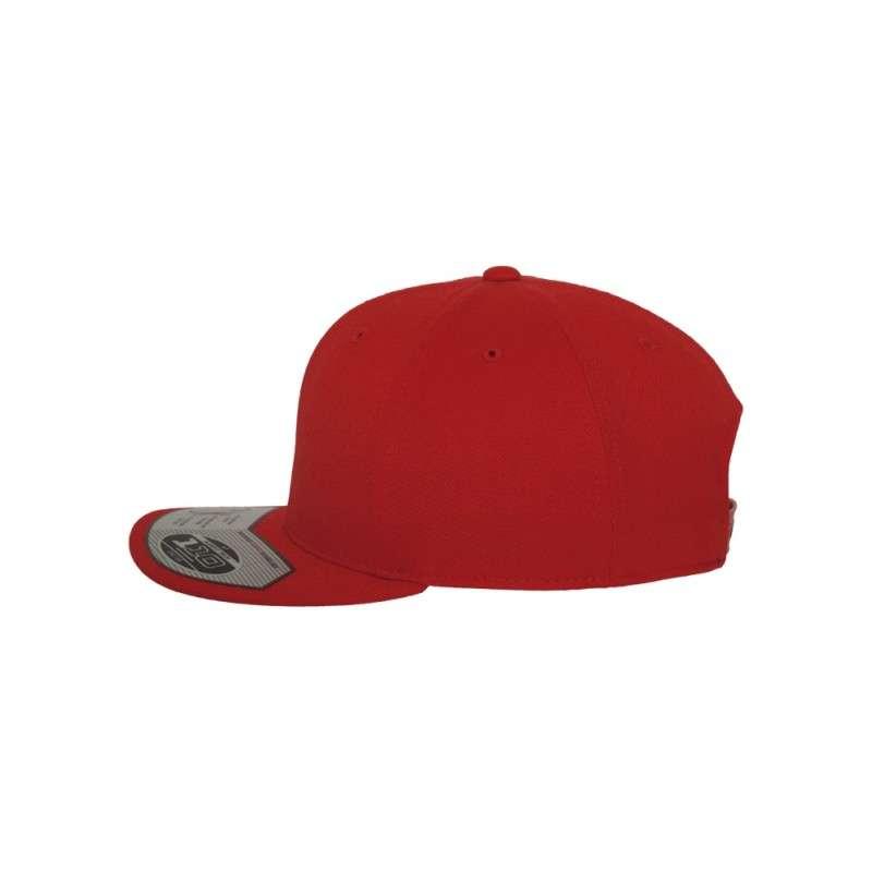 Premium Snapback Cap 110 Rot 6 panneaux, ajustable Seitenansicht links