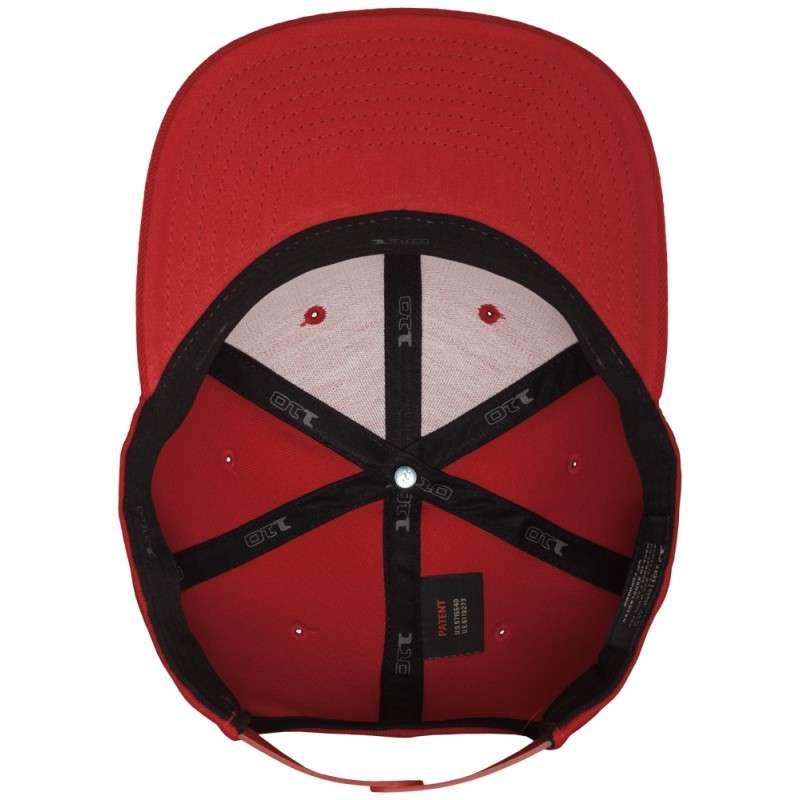 Premium Snapback Cap 110 Rot 6 panneaux, ajustable Ansicht innen