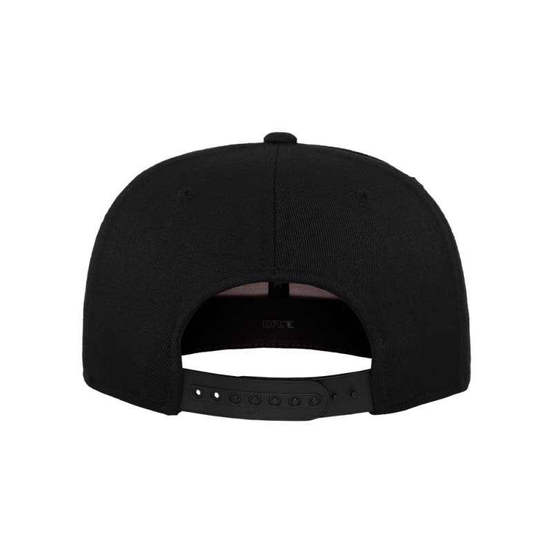 Premium Snapback Cap 110 Schwarz 6 panneaux, ajustable Ansicht hinten