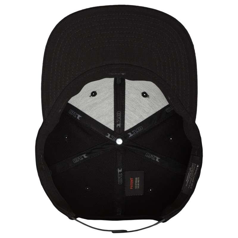 Premium Snapback Cap 110 Schwarz 6 panneaux, ajustable Ansicht innen