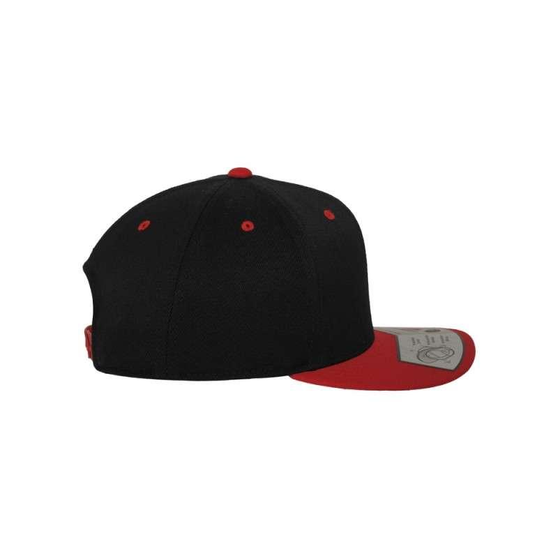Premium Snapback Cap 110 Schwarz/Rot 6 panneaux, ajustable Seitenansicht rechts