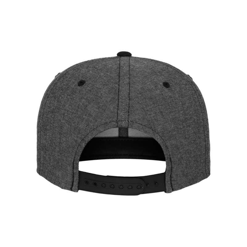 Premium Snapback Cap Grau/Wildleder Schwarz 6 panneaux, ajustable Ansicht hinten
