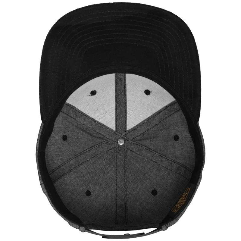 Premium Snapback Cap Grau/Wildleder Schwarz 6 panneaux, ajustable Ansicht innen