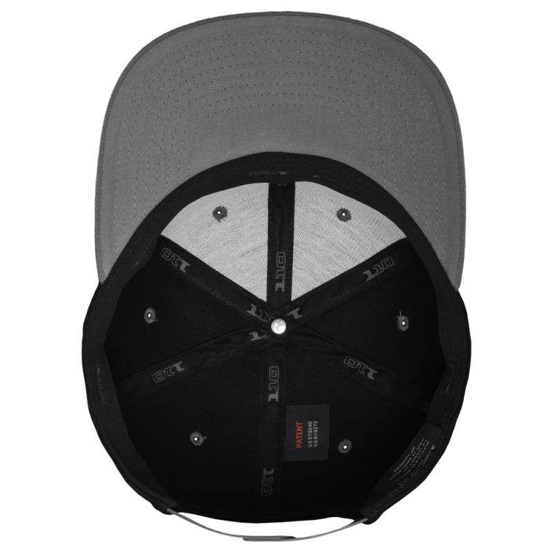 Premium Snapback Cap 110 Schwarz/Grau 6 panneaux, ajustable Ansicht innen