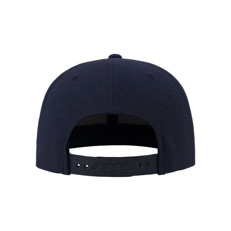 Snapback Cap Camo Dunkelblau 6 panneaux, ajustable Ansicht hinten