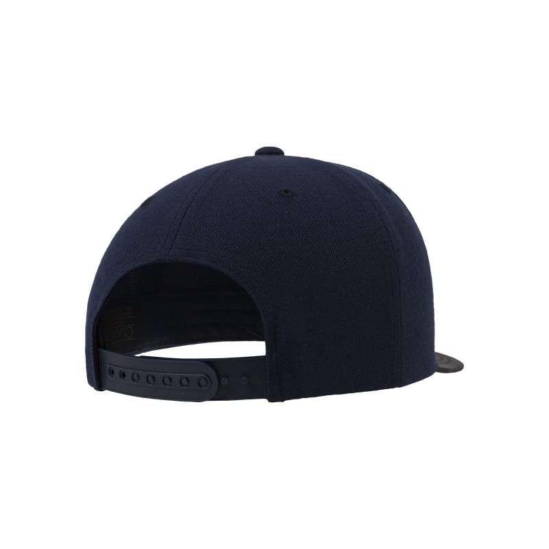 Snapback Cap Camo Dunkelblau 6 panneaux, ajustable Seitenansicht hinten