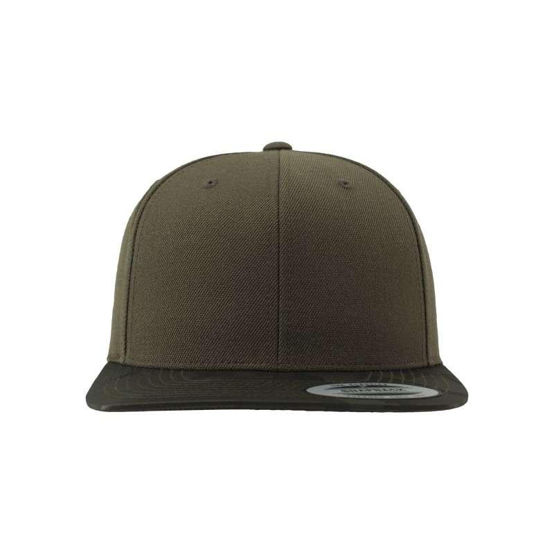 Snapback Cap Camo Olive 6 panneaux, ajustable Ansicht vorne