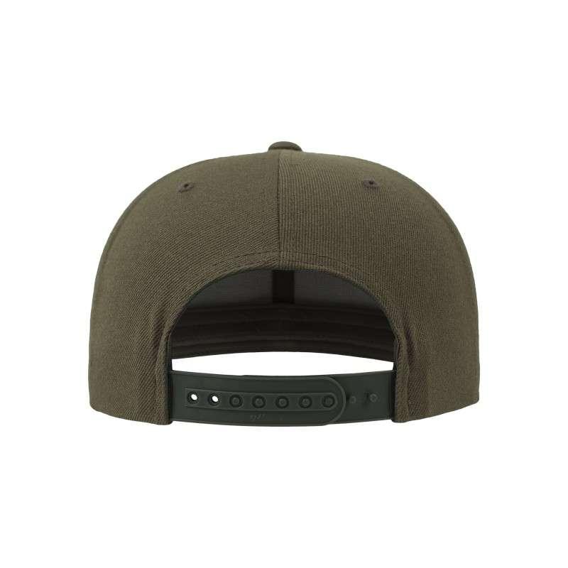 Snapback Cap Camo Olive 6 panneaux, ajustable Ansicht hinten