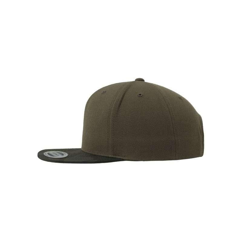 Snapback Cap Camo Olive 6 panneaux, ajustable Seitenansicht links