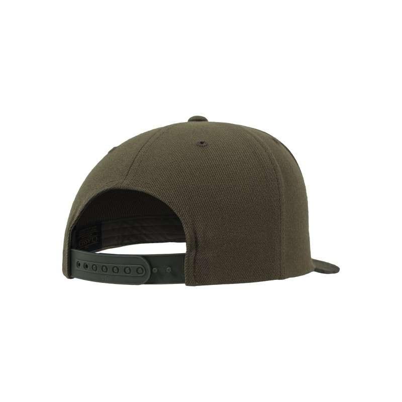 Snapback Cap Camo Olive 6 panneaux, ajustable Seitenansicht hinten