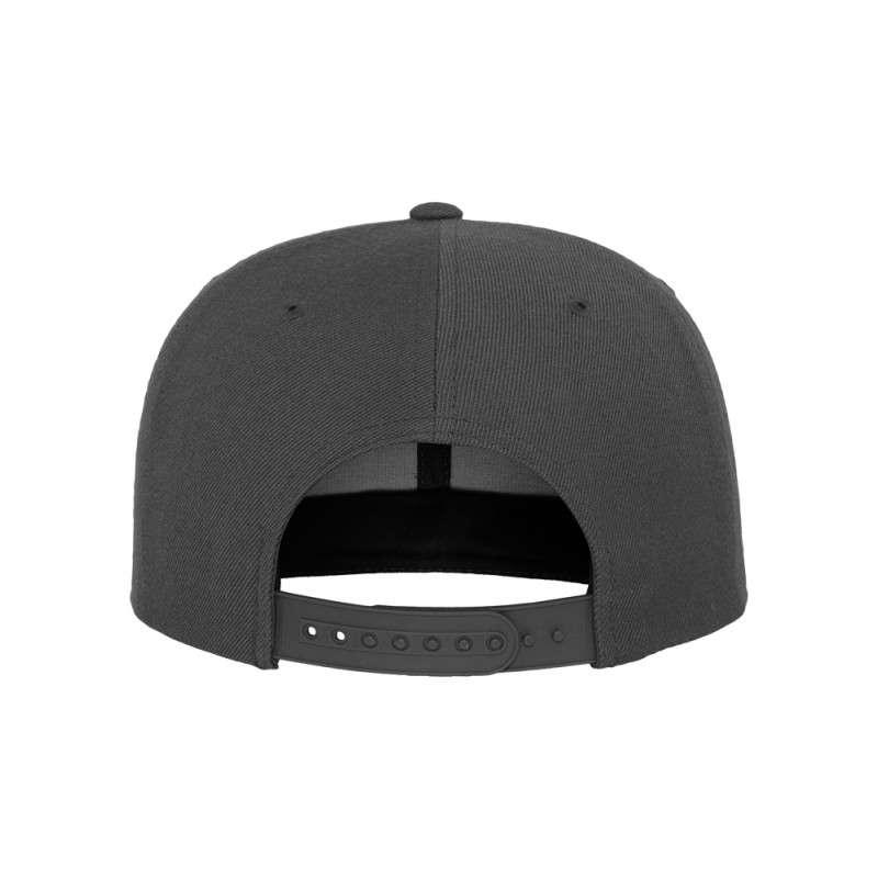 Snapback Cap Classic Dunkelgrau 6 panneaux, ajustable Ansicht hinten