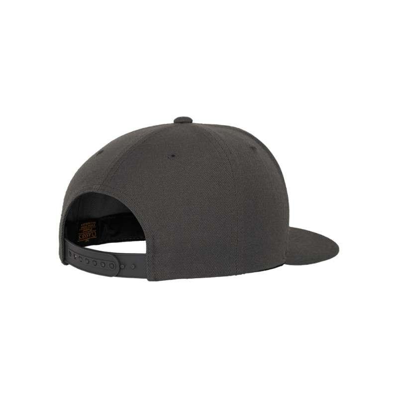Snapback Cap Classic Dunkelgrau 6 panneaux, ajustable Seitenansicht hinten