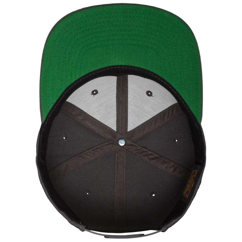 Snapback Cap Classic Dunkelgrau 6 panneaux, ajustable Ansicht innen