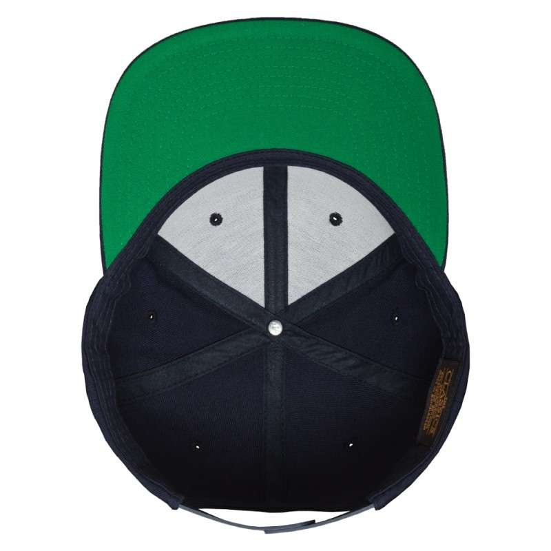 Snapback Cap Classic Dunkelblau 6 panneaux, ajustable Ansicht innen