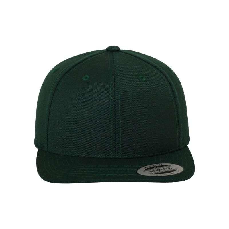 Snapback Cap Classic Dunkelgrün 6 panneaux, ajustable Ansicht vorne