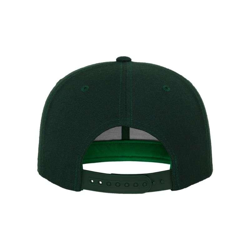 Snapback Cap Classic Dunkelgrün 6 panneaux, ajustable Ansicht hinten