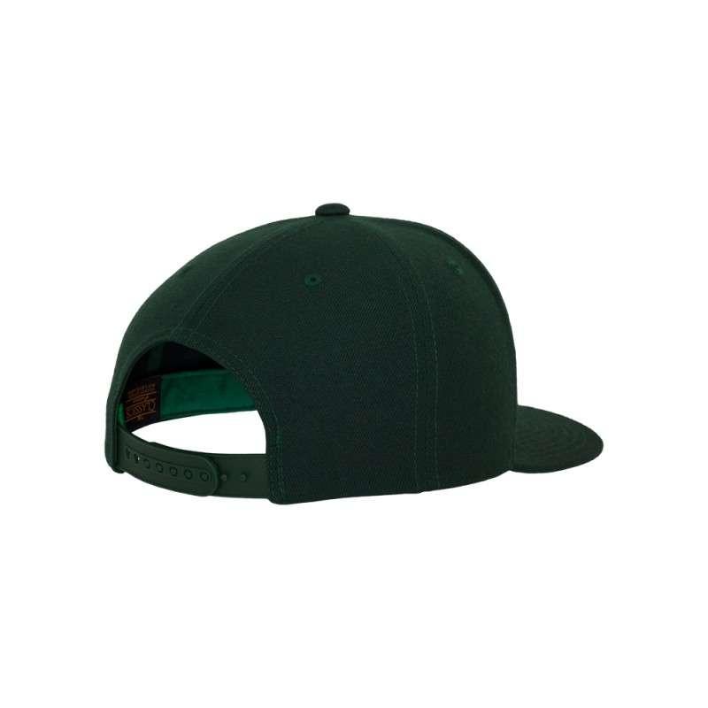 Snapback Cap Classic Dunkelgrün 6 panneaux, ajustable Seitenansicht hinten