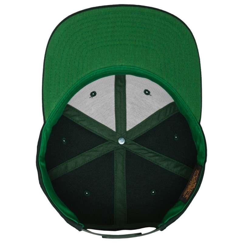 Snapback Cap Classic Dunkelgrün 6 panneaux, ajustable Ansicht innen