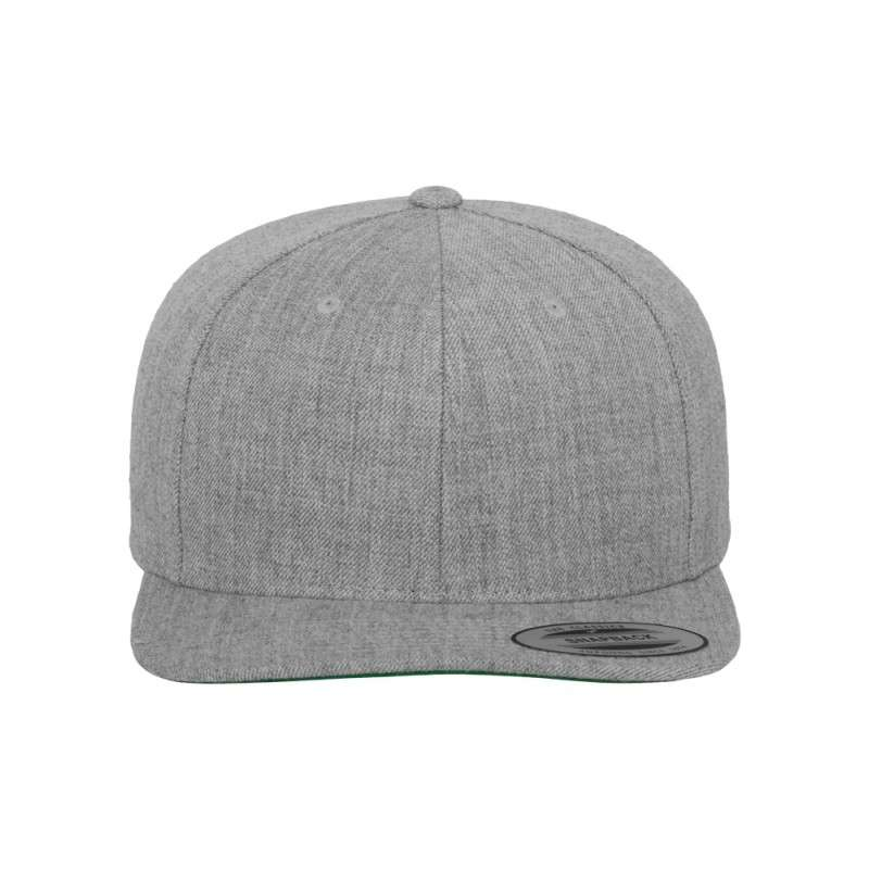 Snapback Cap Classic Graumeliert 6 panneaux, ajustable Ansicht vorne