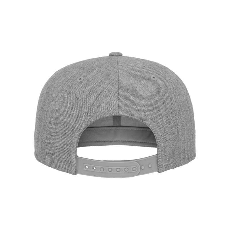 Snapback Cap Classic Graumeliert 6 panneaux, ajustable Ansicht hinten