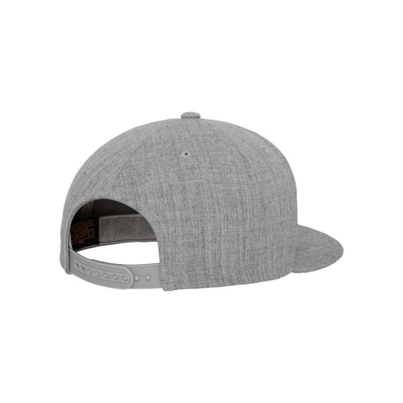 Snapback Cap Classic Graumeliert 6 panneaux, ajustable Seitenansicht hinten