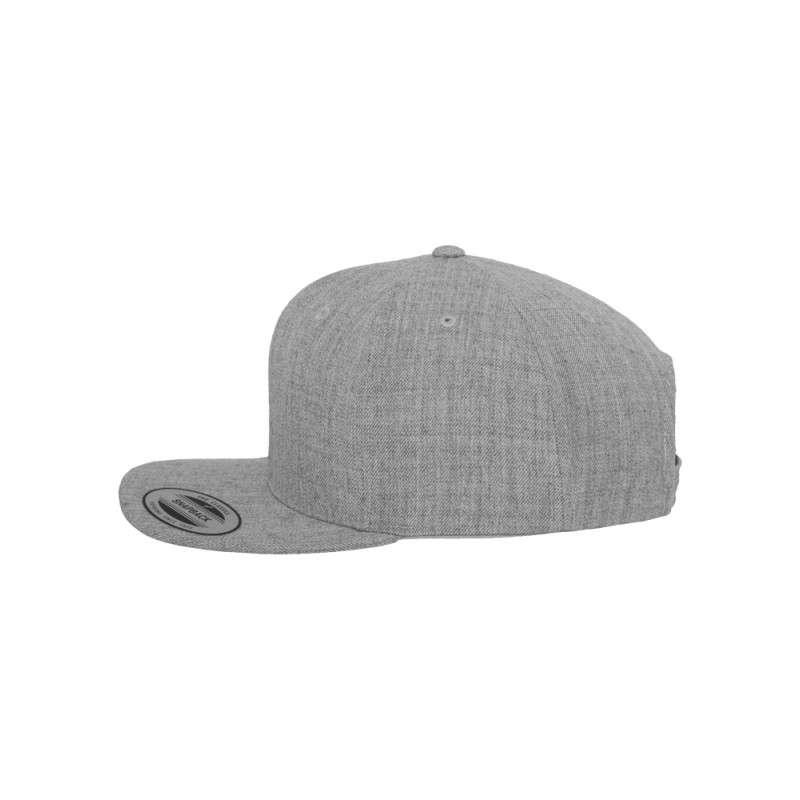 Snapback Cap Classic Graumeliert 6 panneaux, ajustable Seitenansicht links