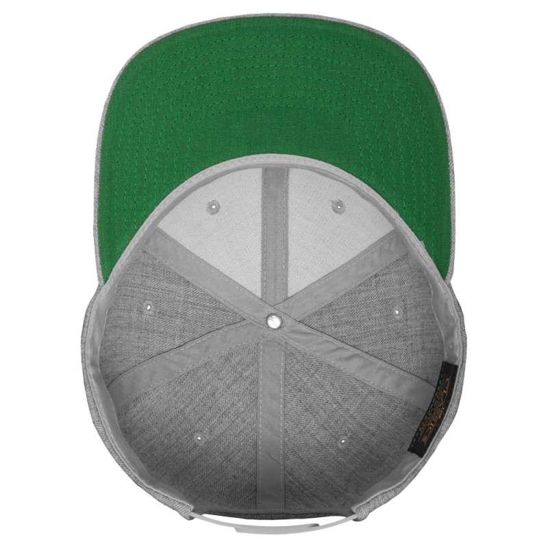 Snapback Cap Classic Graumeliert 6 panneaux, ajustable Ansicht innen