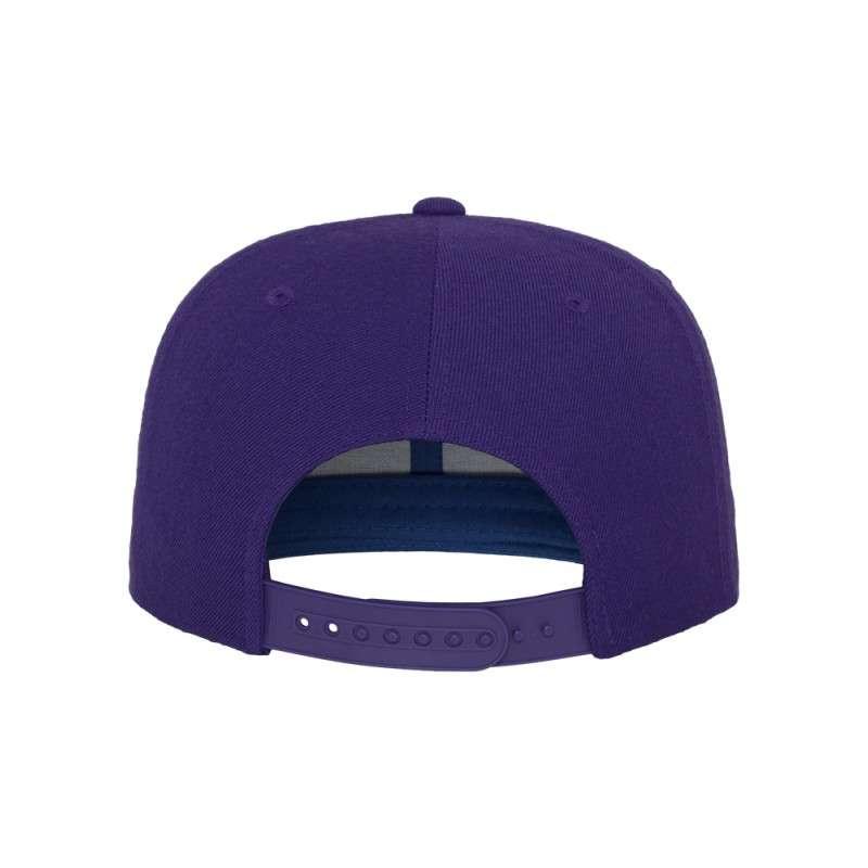 Snapback Cap Classic Lila 6 panneaux, ajustable Ansicht hinten