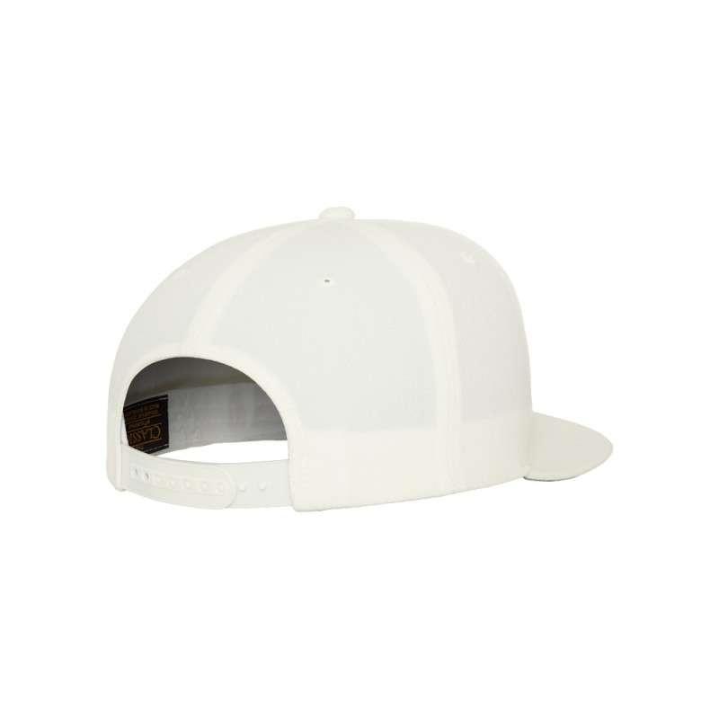 Snapback Cap Classic Naturweiß 6 panneaux, ajustable Seitenansicht hinten