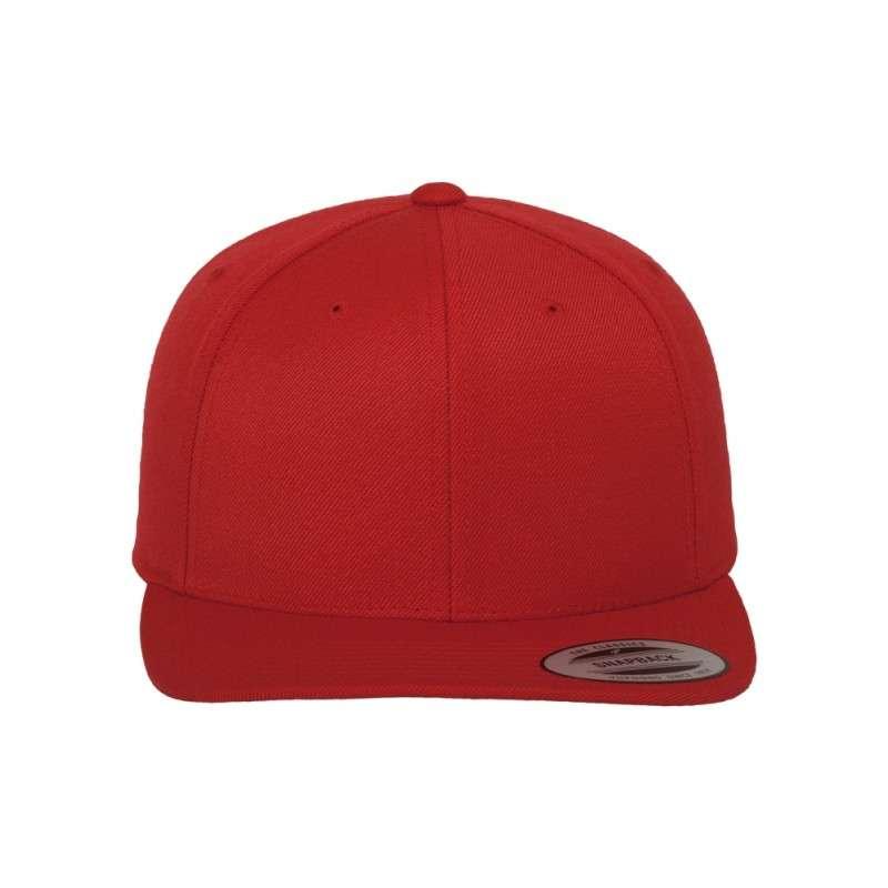 Snapback Cap Classic Rot 6 panneaux, ajustable Ansicht vorne