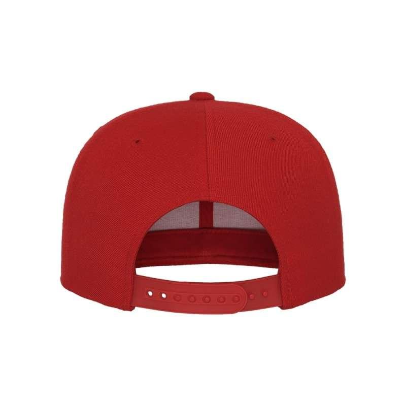 Snapback Cap Classic Rot 6 panneaux, ajustable Ansicht hinten